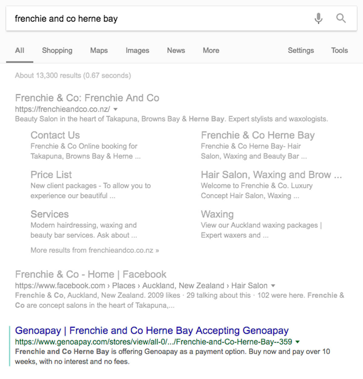 Genoapay SEO frenchie and co google